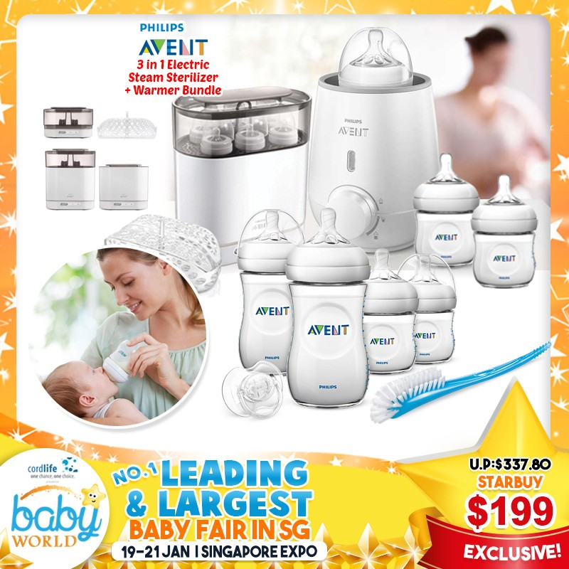 Save More Than 40% On Philips Avent 3-in-1 Electric Steam Sterilizer Bundle!