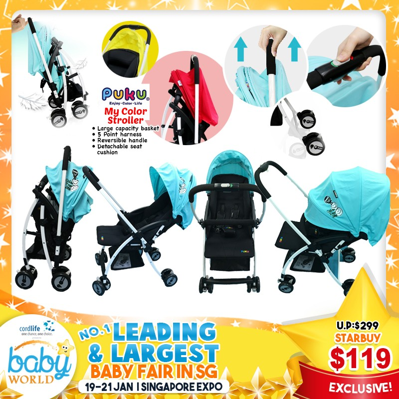 Setup and Keep This Lightweight Baby Stroller in less than 2 Secs!