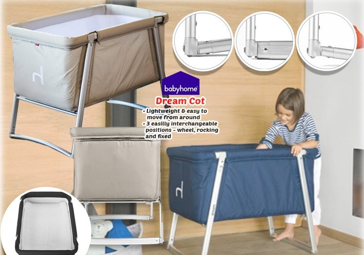 Babyhome 3-in-1 Dream Baby Cot / Co-Sleeper / Playpen