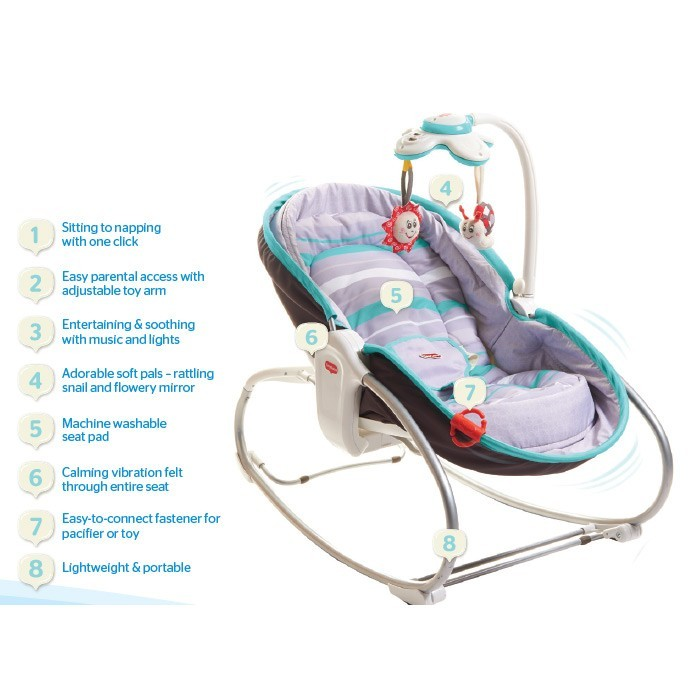 Early Bird Special - TinyLove 3 in 1 Rocker Napper Luxe. NB to 18KG!