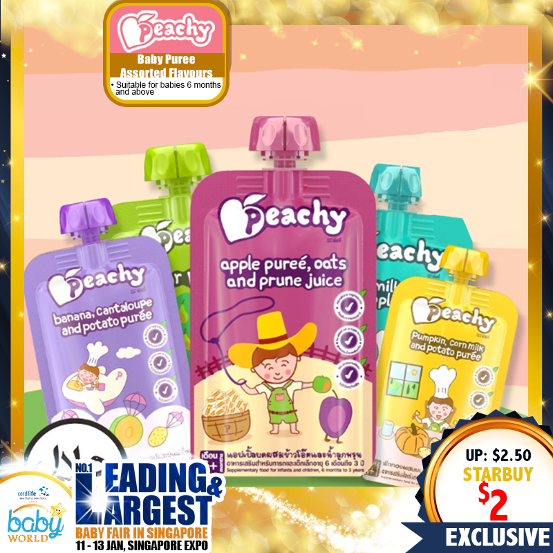 Peachy Baby Food - Baby Puree Assorted Flavours