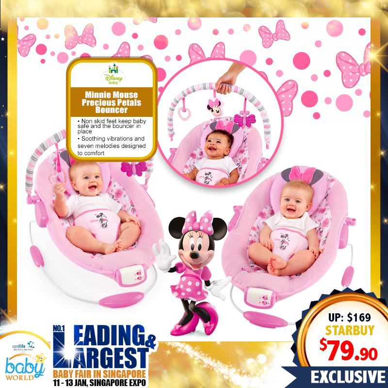 Disney Minnie Mouse Precious Petals Bouncer