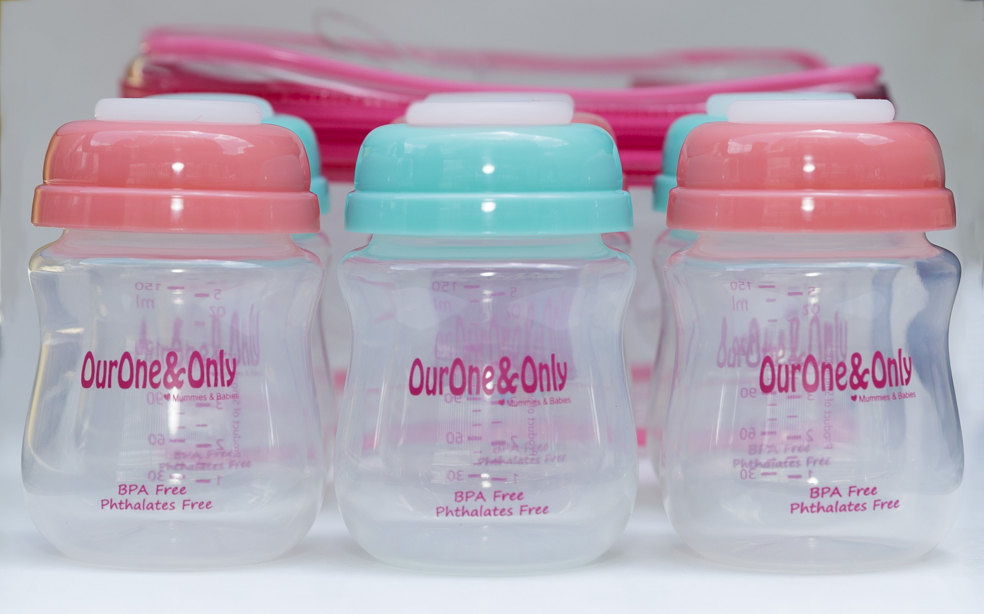 OurOne&Only Wide Neck Breastmilk Storage Bottle (6pcs - Small) / (4pcs - Big) *ADDITIONAL 1 Bottle for EARLY BIRD SPECIAL!!