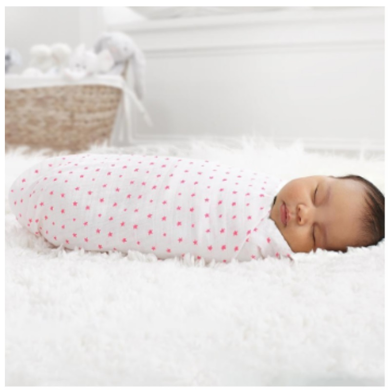 Aden + Anais Classic Swaddle 2 pack (Fluro Pink)