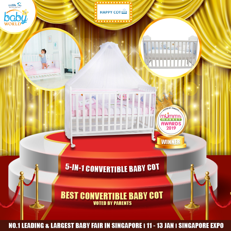 HAPPY COT - Best Convertible Baby Cot