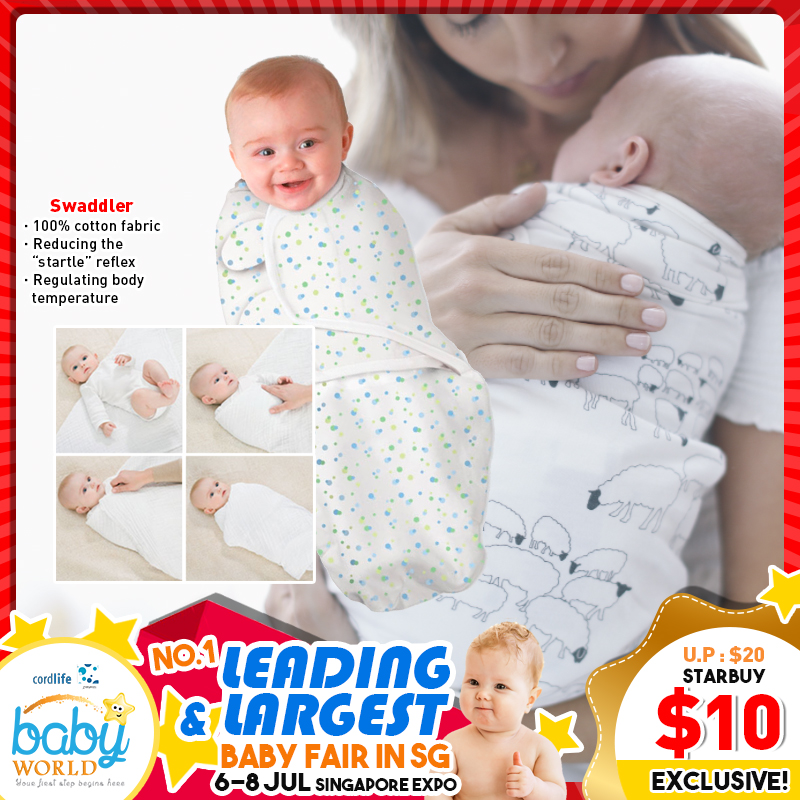 MummyKidz Baby Easy Swaddler (100% COTTON)