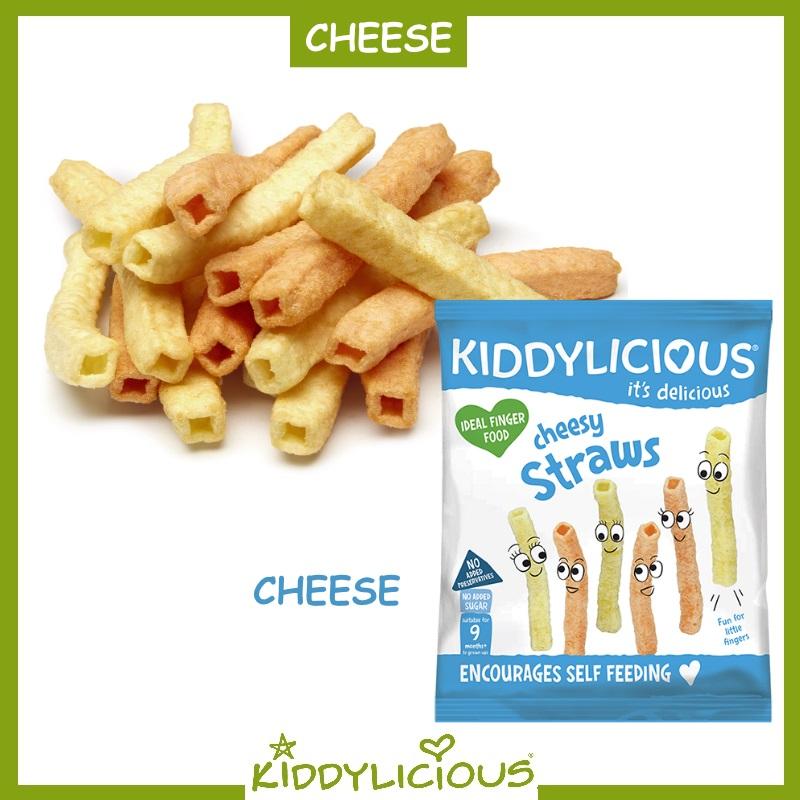 Kiddylicious Snacks (Cheesy Potato Straws / Vege Straws / Ha-Pea Snaps / Lentil Straws) Bundle of 8 + 1 Free