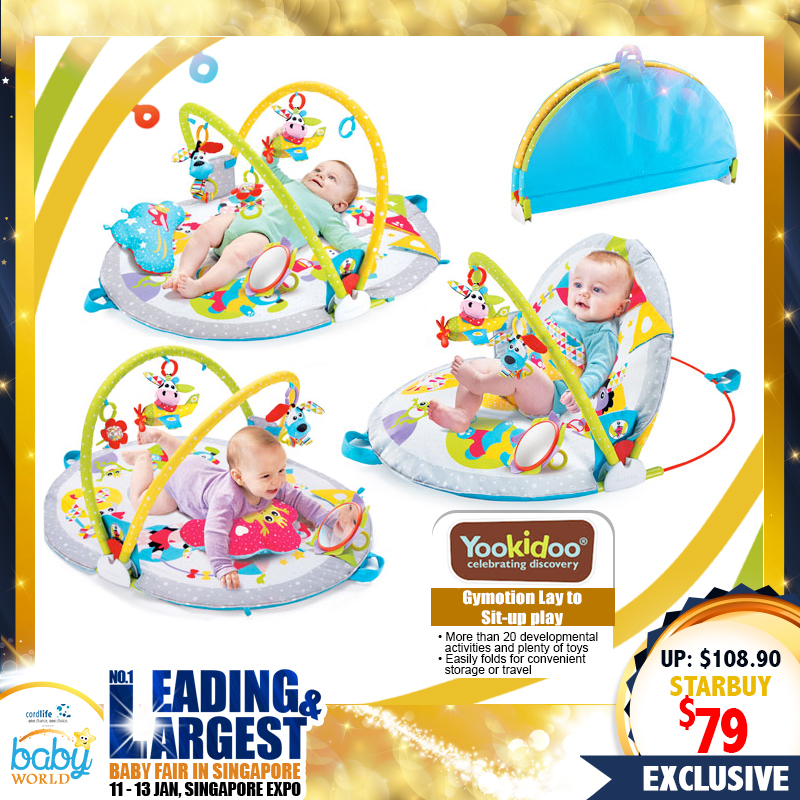 Yookidoo Gymotion Lay To Sit-Up Play Playgym