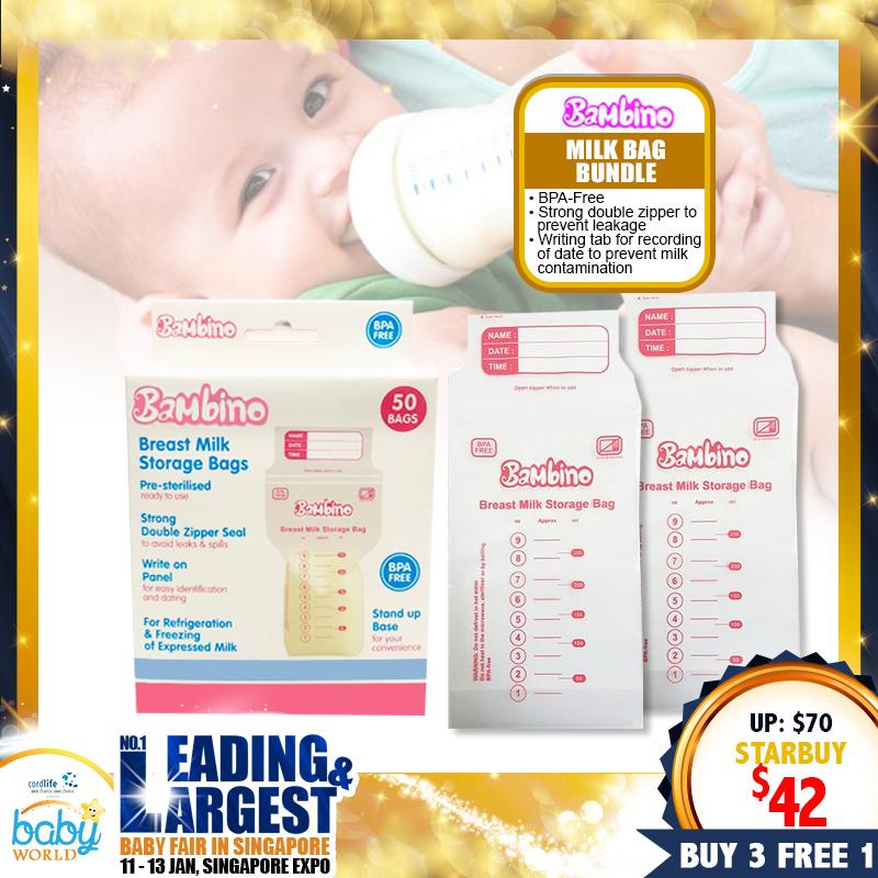 Bambino Milk Storage Bags (Buy 3 Free 1!)