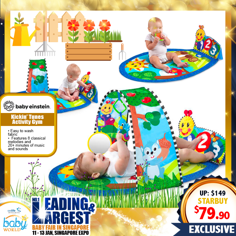 Baby Einstein Kickin' Tunes Activity Playgym with MUSIC, SOUND & LIGHTS