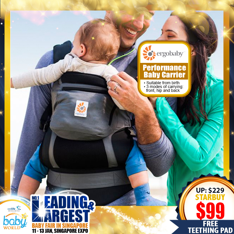 Ergobaby Performance Baby Carrier Performance (Charcoal/Black) UP TO 57 PERCENT OFF!!