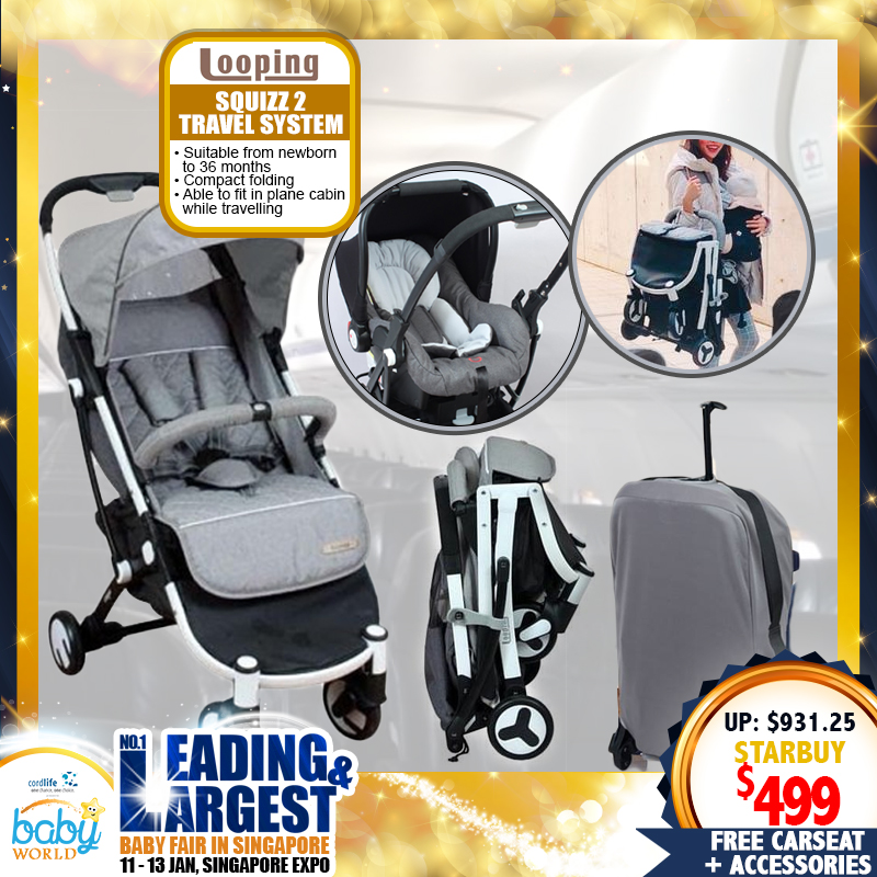 Looping Squizz 2 Travel System (Stroller + Carseat) + FREE Gifts!