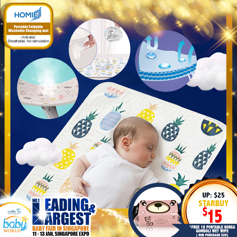 Homie Baby Anti-skid Portable Changing Mat *ADDITIONAL FREE Gift for EARLY BIRD SPECIAL!!