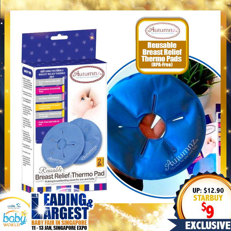Autumnz Reusable Breast Relief Thermo Pads (2 pcs) *BPA FREE*