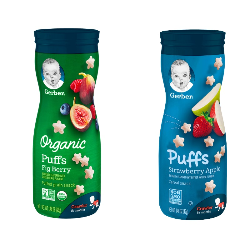 Nestle Gerber Organic Whole Grain Puffs (BUY 2 GET 1 FREE)