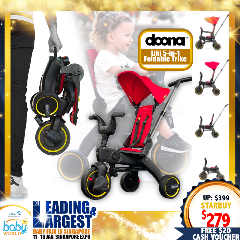 Doona Liki 5-in-1 Foldable Trike (30 PERCENT OFF)