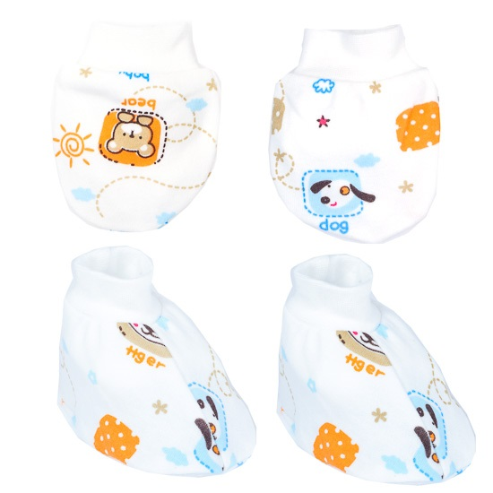 Autumnz - Mitten And Bootie Set *3packs* (4pcs/pack) (Assorted Designs-Girl/Boy)