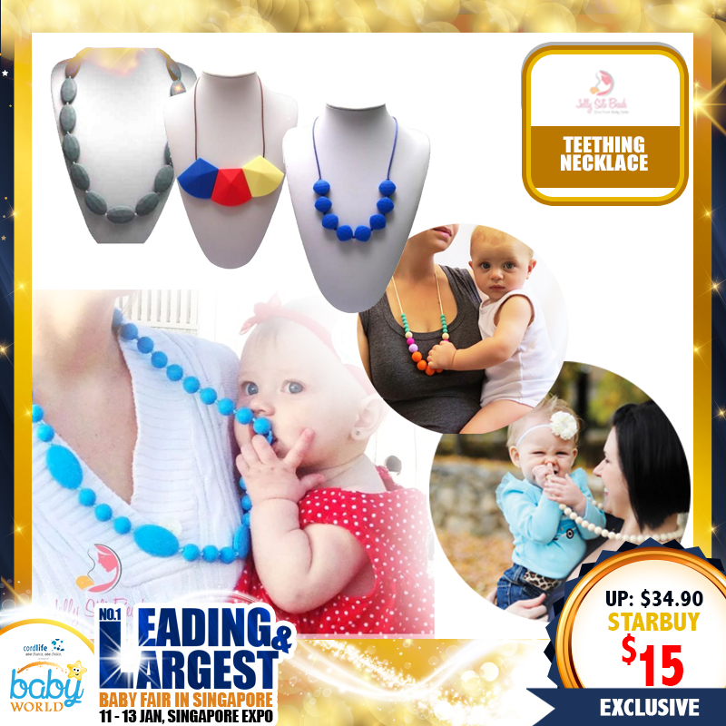 Jelly Sili Beads Teething Necklace (57 PERCENT OFF)
