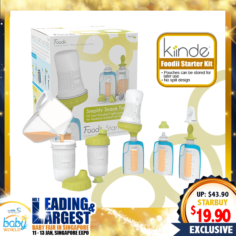 Kiinde Foodii Starter Kit UP TO 55% OFF!! (Feeding Kit)