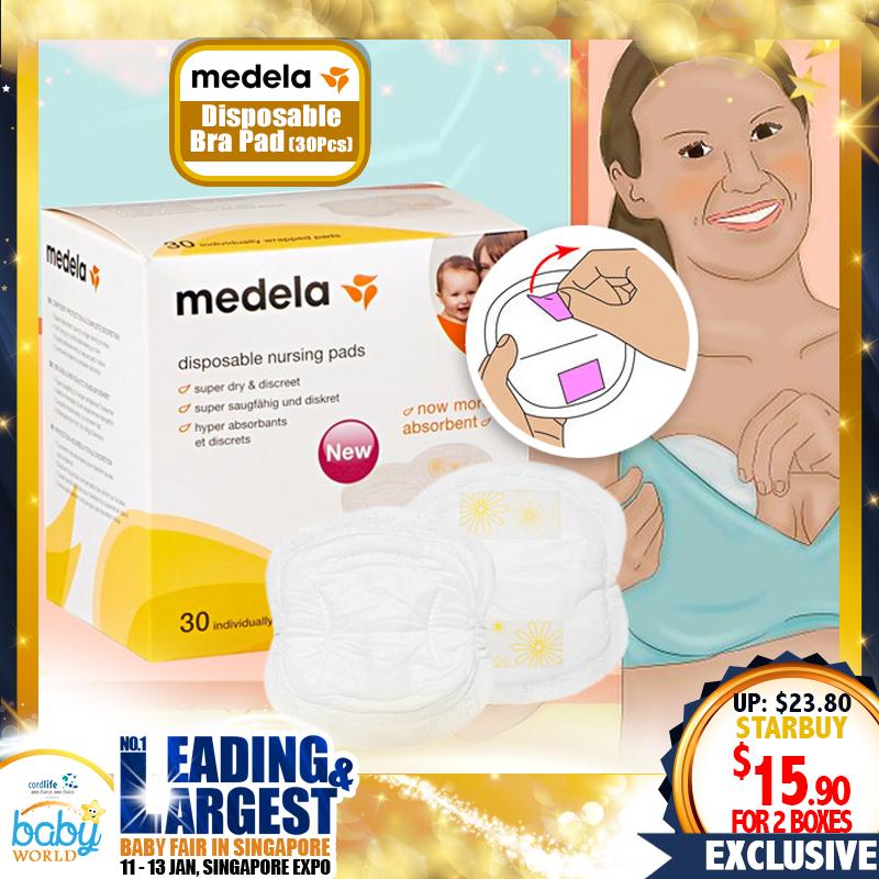 Medela Disposable Nursing Bra / Breast Pad - Bundle of 2 x 30 pcs