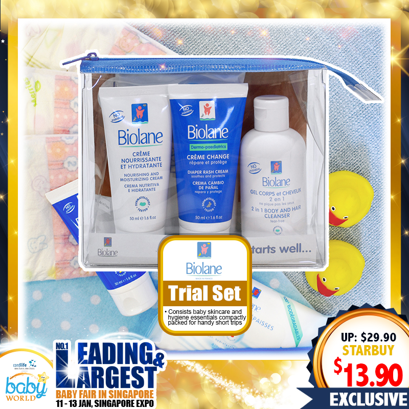 Biolane Skincare & Hygiene Trial Set (50 PERCENT OFF)