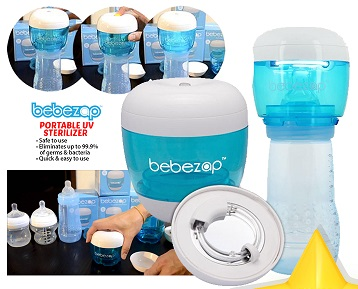 BebeZap Portable UV Sterilizer (Extra DISCOUNT For EARLY BIRD SPECIAL*)