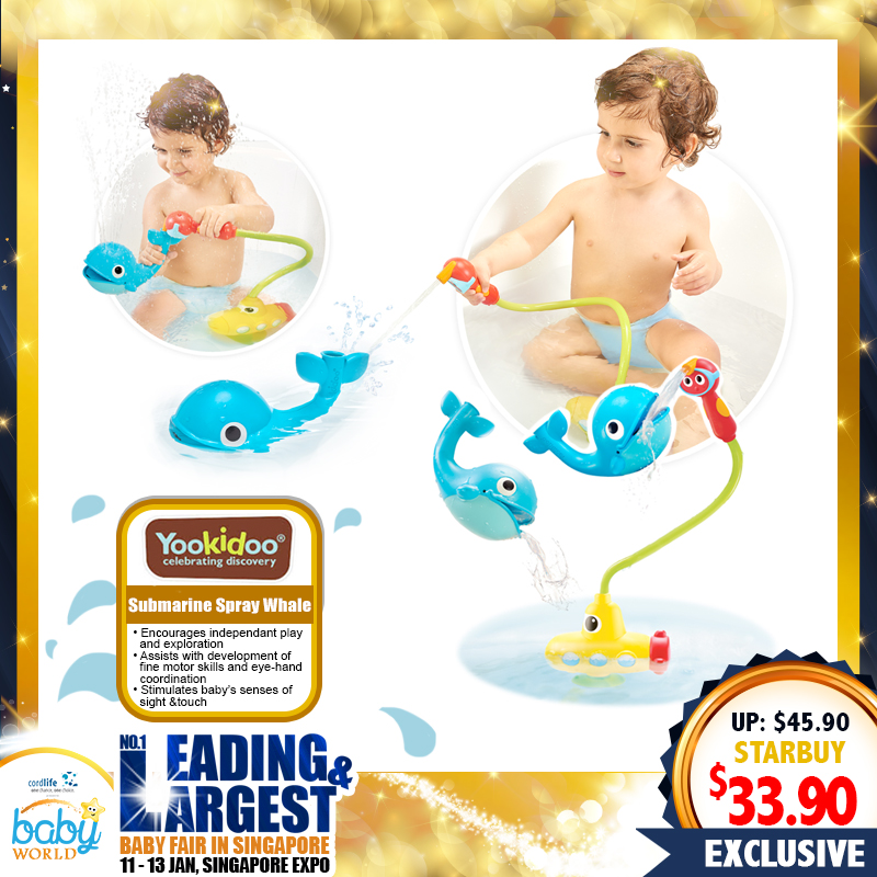 Yookidoo Submarine Spray Whale Bath Toy