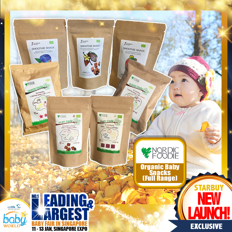 Nordic Foodie Organic Baby Snacks (NEW LAUNCH!!)