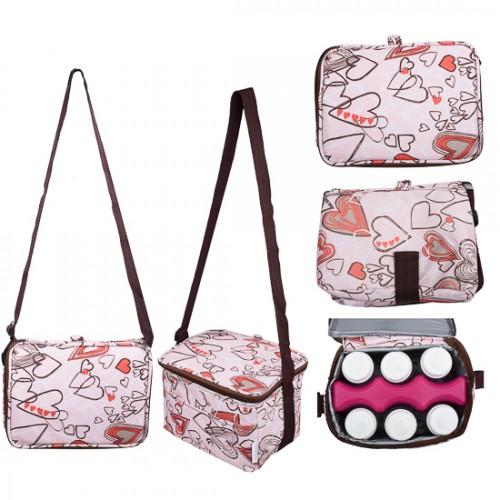 Autumnz Fun Foldaway Bag + Ice Pack + Breastmilk Storage Bottles Bundle