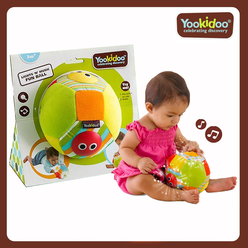 Yookidoo Soft Toy - Lights N Music Fun Ball
