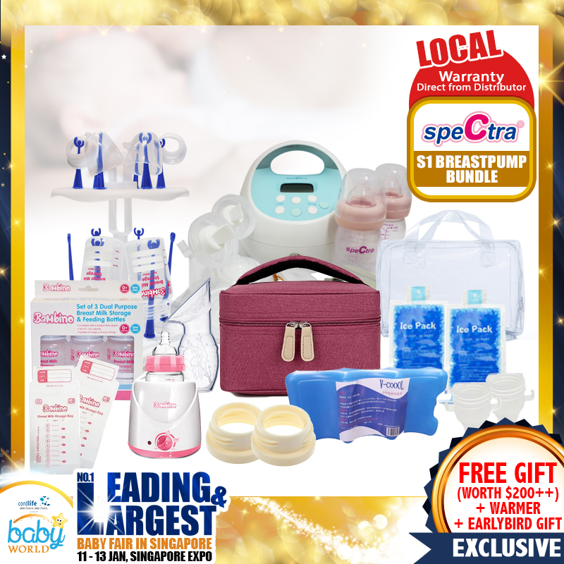 Award Winning Spectra S1 Breastpump + Milk Warmer + FREE Gifts worth $200+!! (Local Warranty from Distributor) - (Additional Free Gift ONLY For EARLY BIRD SPECIAL*)