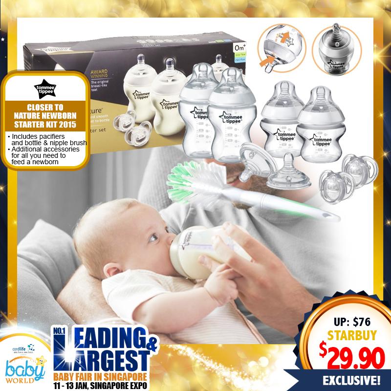 Tommee Tippee Closer To Nature Newborn Starter Kit 2015 (U.P $76.00)
