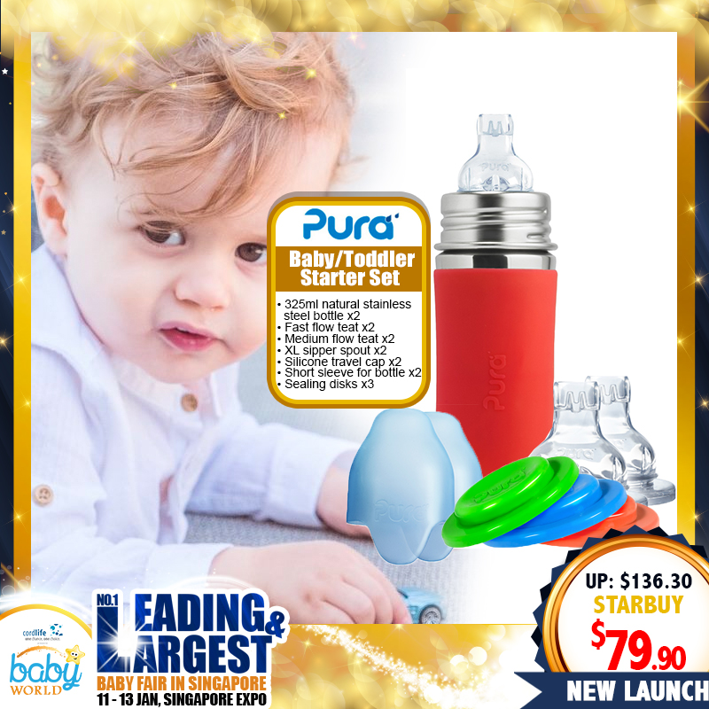 PURA Baby / Toddler Starter Set (Bottle + Teat)