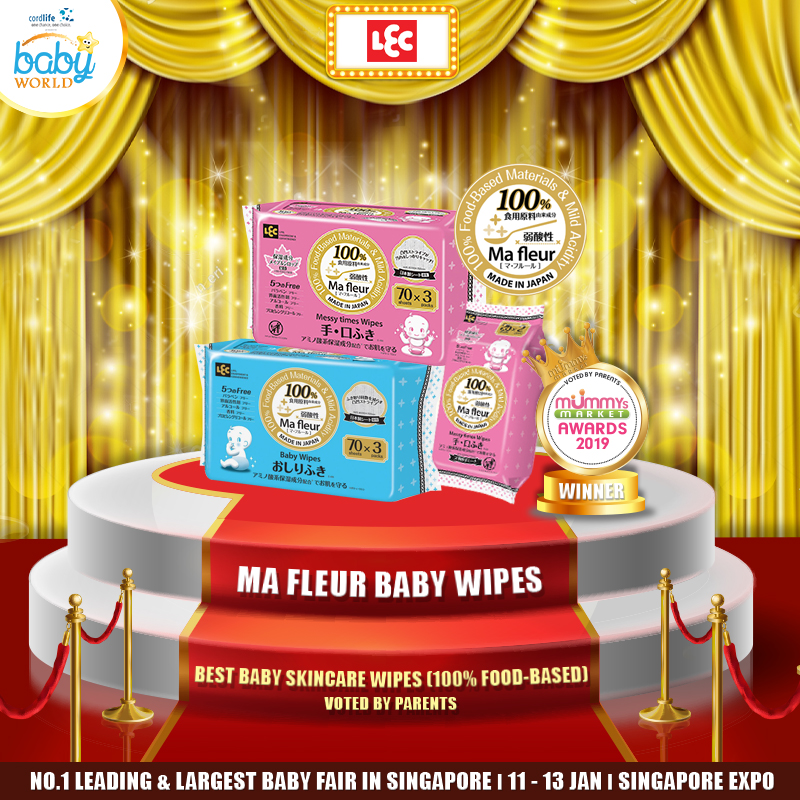 LEC - Best Baby Skincare Wipes (100% food based)