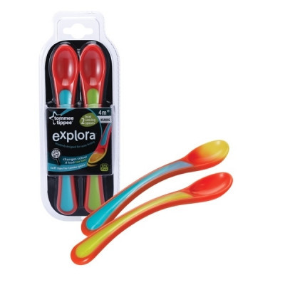 Tommee Tippie Explora Heat Sensor Weaning Spoons - 2pk
