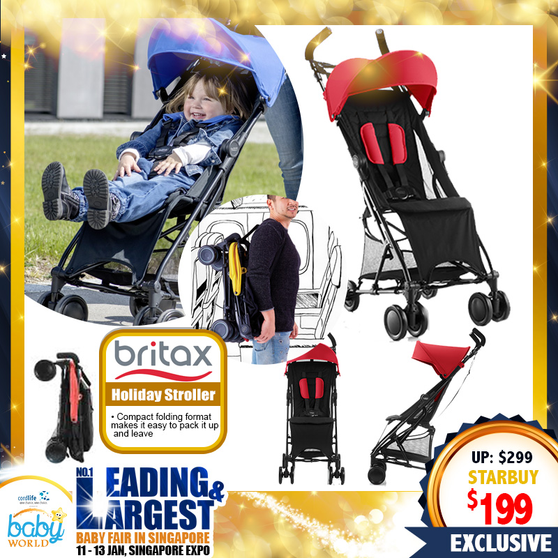 NEW LAUNCH!! Britax Holiday Lightweight Stroller (FLAME RED)