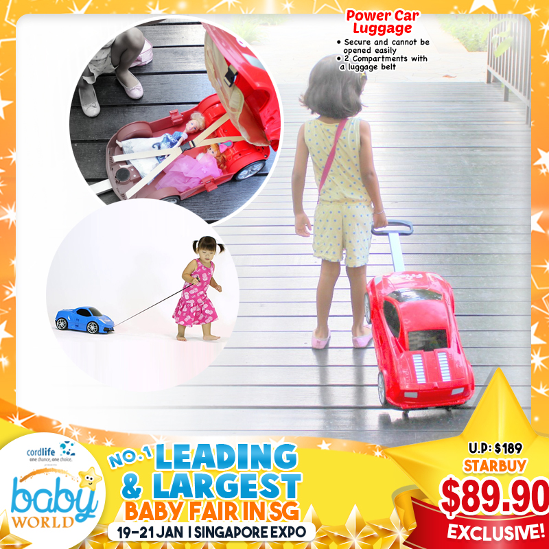 Power Car Luggage for Kids