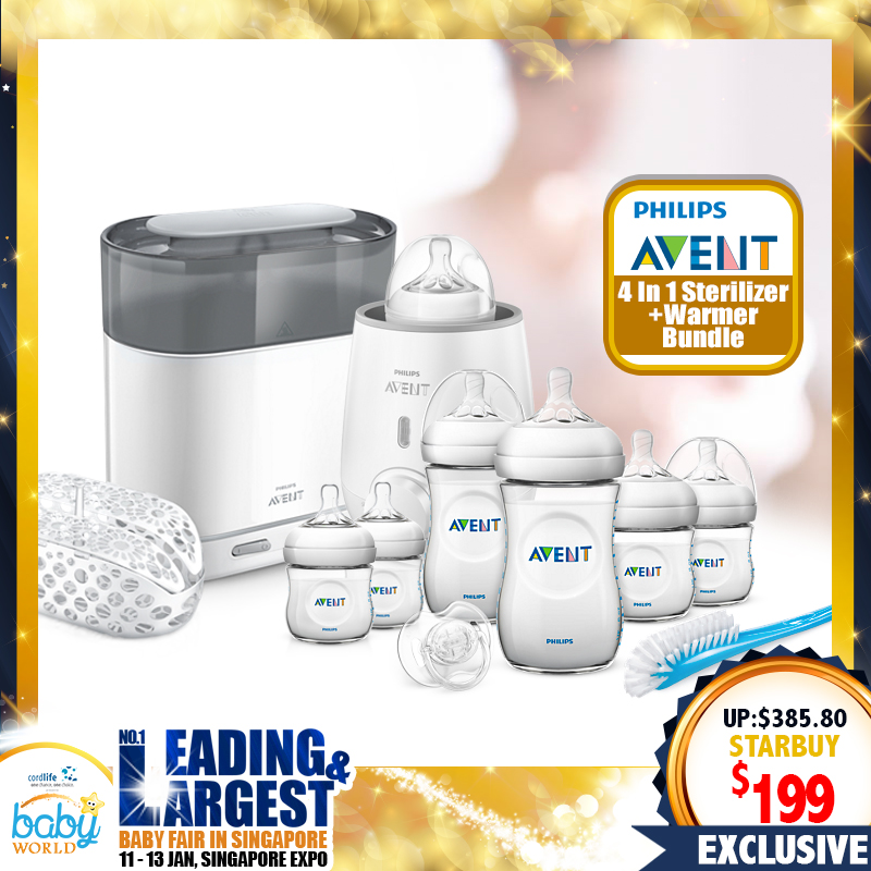 Philips Avent 4-In-1 Electric Sterilizer Newborn Bundle with Warmer