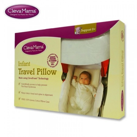 CLEVAMAMA Infant Travel Pillow FREE Jack N Jill Sweetness Moisturiser 300ml (WORTH $29.90)!!