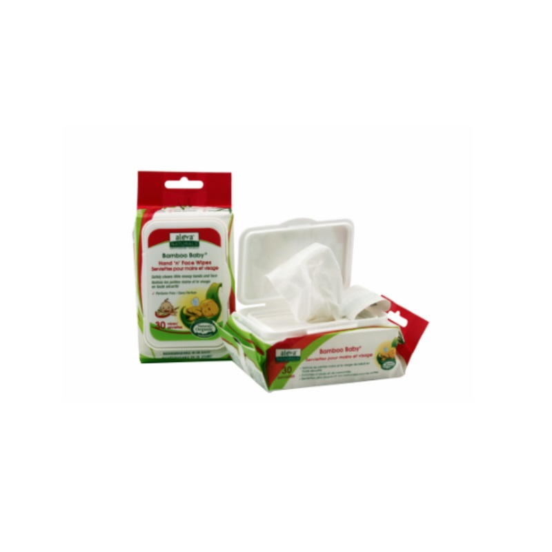 Aleva Naturals Bamboo Baby Hand & Face Wipes (BUNDLE OF 3)