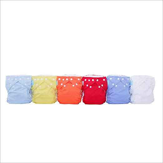Charlie Banana 6 Diapers 12 In