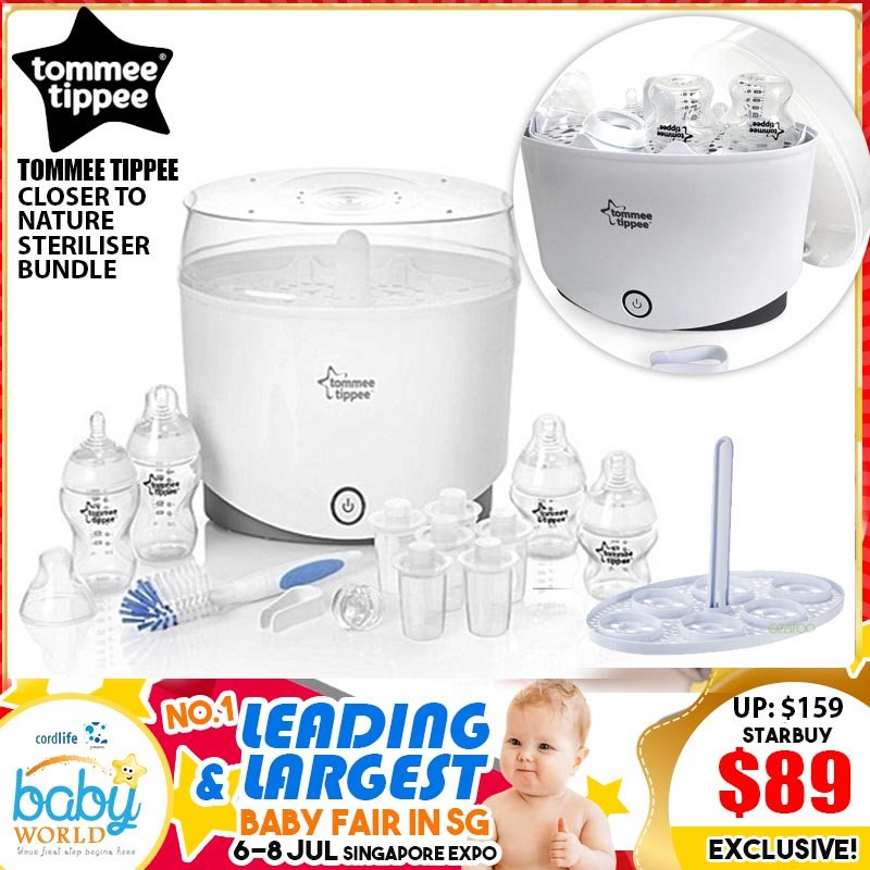 TOMMEE TIPPEE CLOSER TO NATURE STERILISER BUNDLE