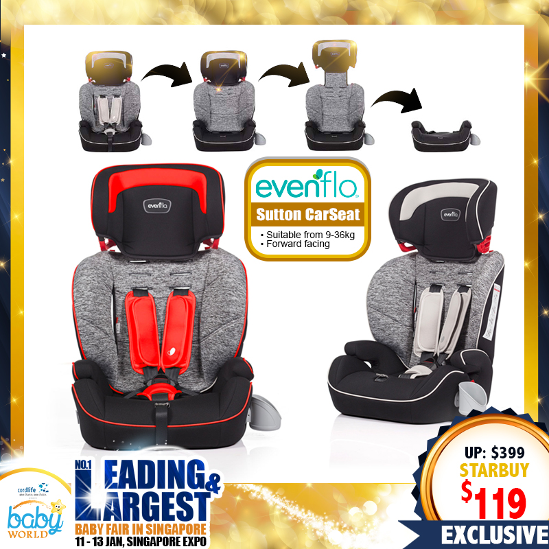 EvenFlo Sutton 3-In-1 Booster Carseat (70 PERCENT OFF!!!)