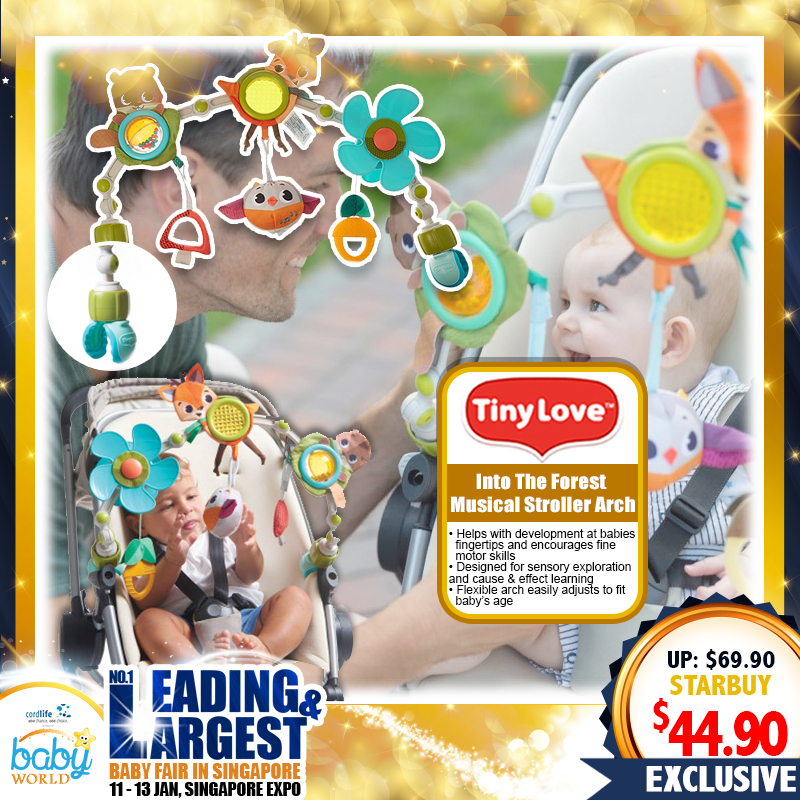 TinyLove Into the Forest Muscial Stroller Arch Toy