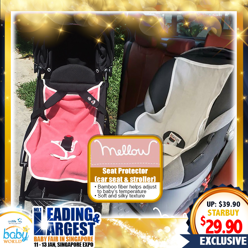 Mellow ' Quickdry' Car Seat & Stroller Seat Protector