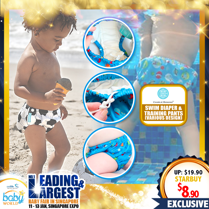 Charlie Banana 2 IN 1 Swim Diaper & Training Pants (Asst Prints & Sizes) UP TO 70% OFF!! WHILE STOCK LAST!!