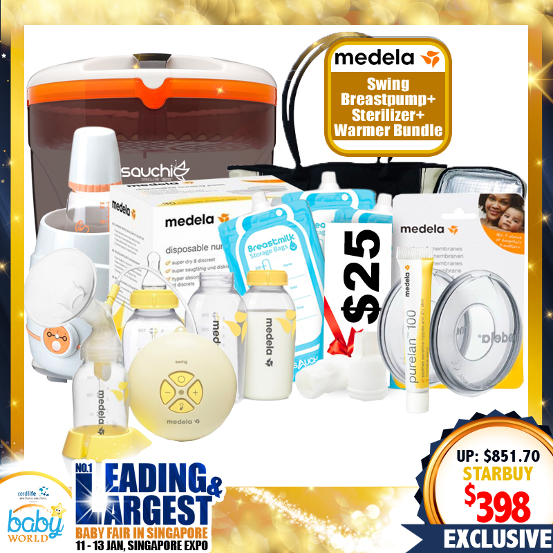 Medela Swing Breastpump $398 Bundle + FREE Gifts Worth $453.70!! PWP AVAILABLE (From Local Distributors only!!)