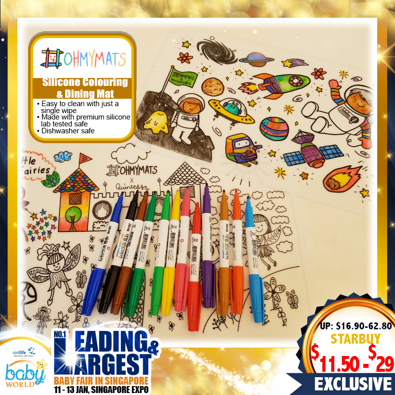 OhMyMats Silicone Colouring & Dining Mats