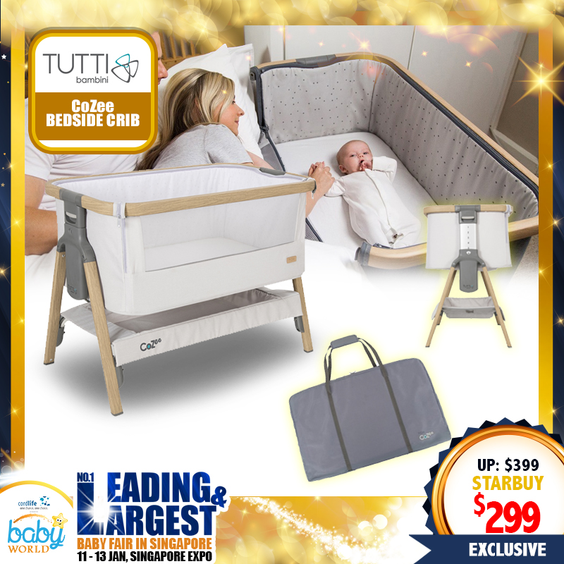 Tuti Bambini CoZee Bedside Crib