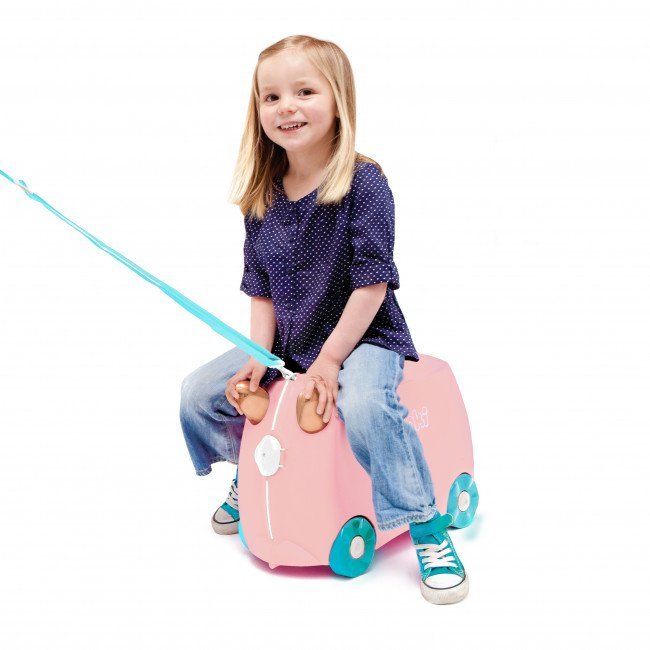 Trunki Luggage Suitcase(Flossi The Flamingo) + FREE Trunki Dive Stick